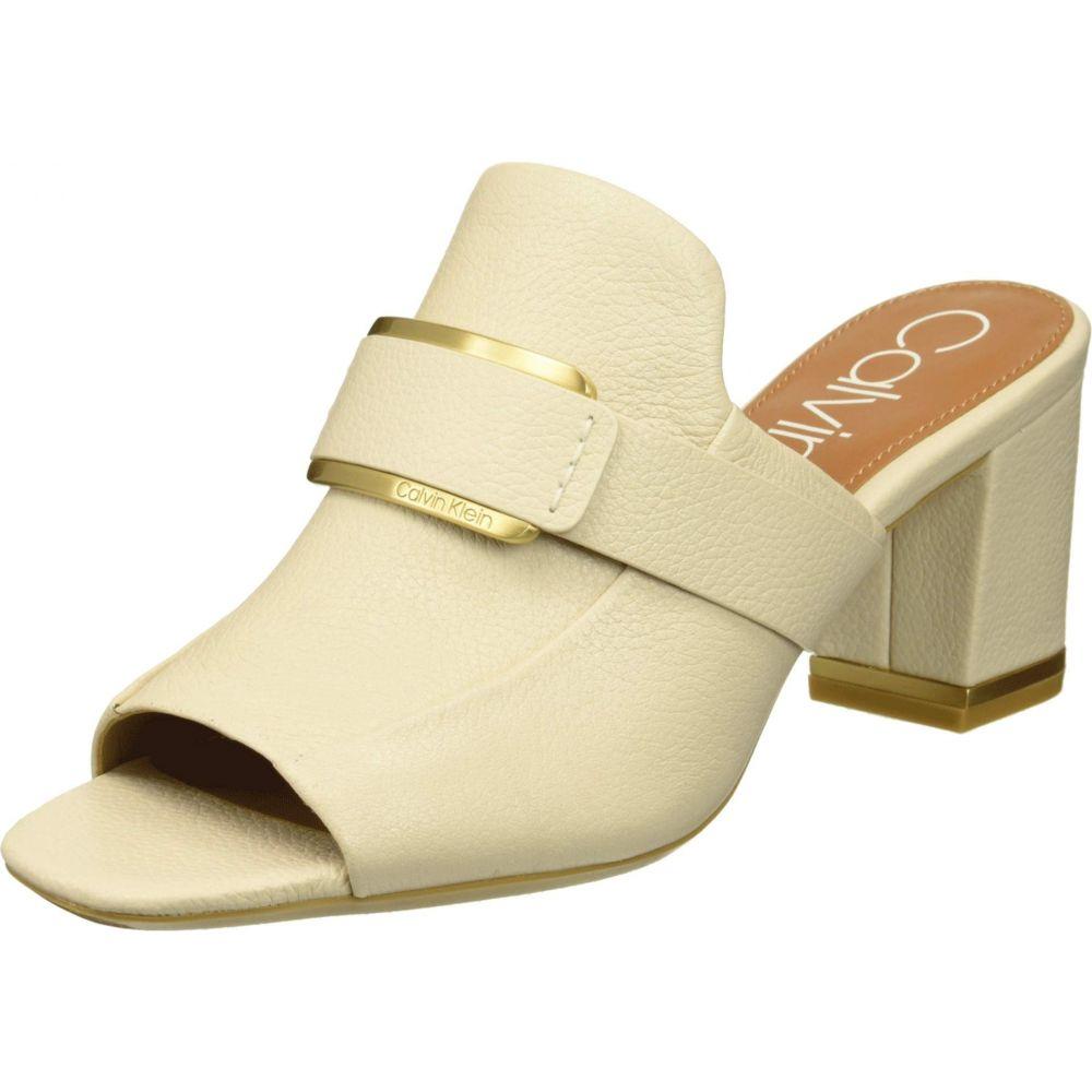 カルバンクライン Calvin Klein レディース シューズ・靴 サンダル・ミュール【Corinne】Soft White Pebble Grain