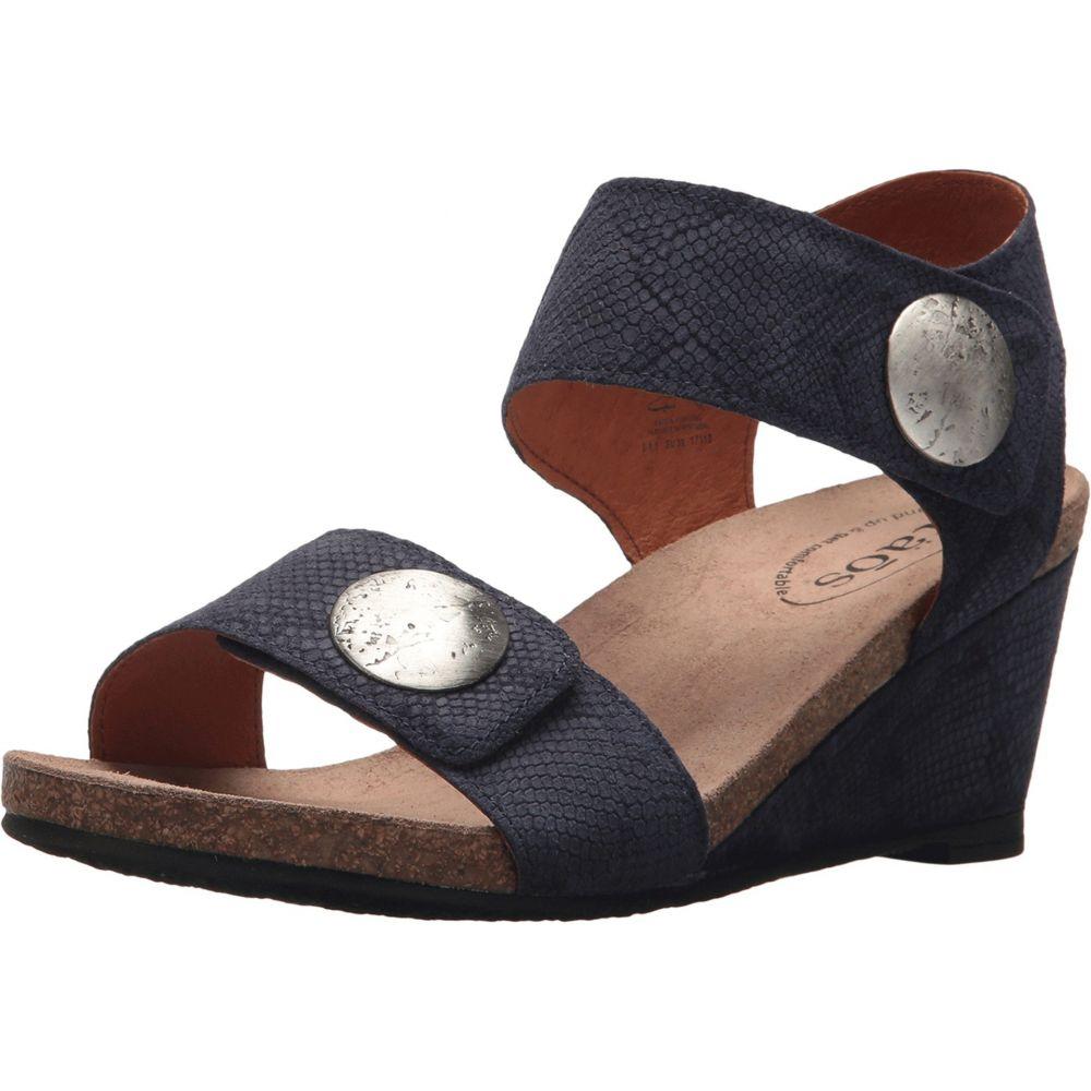 タオス Taos Footwear レディース シューズ・靴 サンダル・ミュール【Carousel 2】Blue Embossed Suede