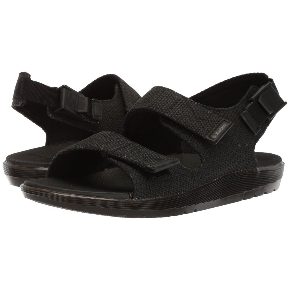 942b616e5ae4 ドクターマーチン Dr. Martens メンズ シューズ·靴 サンダル Crewe Black Millitary Heavy Canvas  Black Webbing Black PU ドクターマーチン メンズ シューズ·靴 ...
