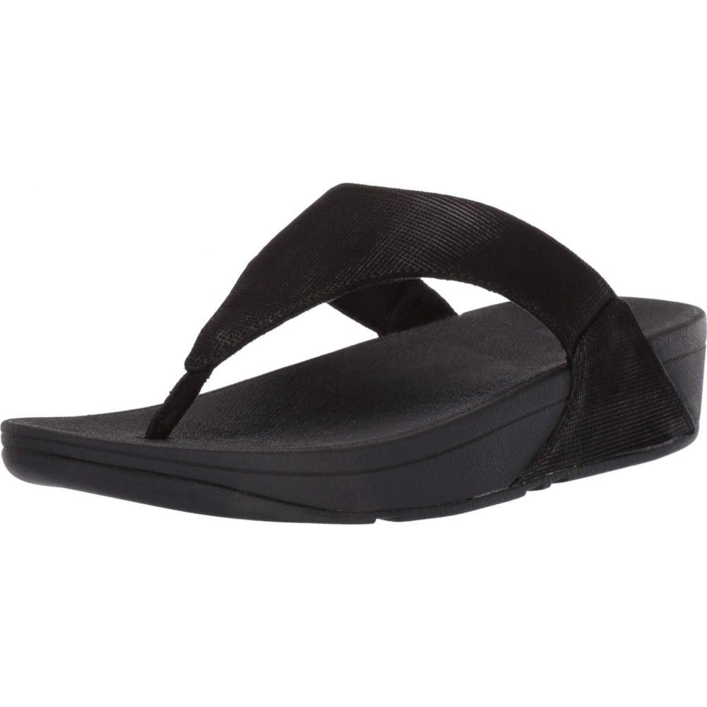 フィットフロップ FitFlop レディース シューズ・靴 サンダル・ミュール【Lulu Toe-Thong Sandals - Shimmer-Check】Black