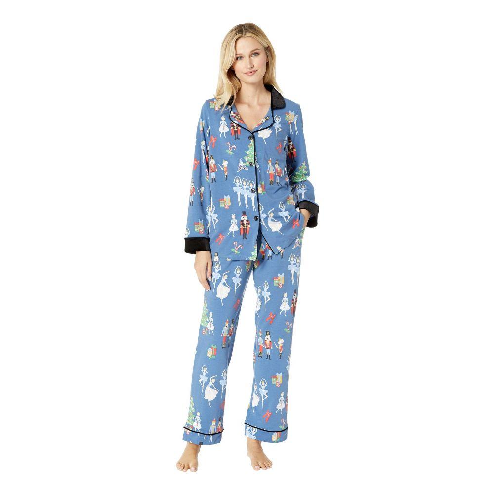 1882e36b6f349b ベッドヘッド BedHead レディース インナー·下着 パジャマ·上下セット【Long Sleeve Classic Notch Collar  Pajama Set】Nutcracker ベッドヘッド レディース インナー· ...