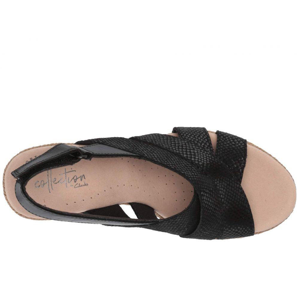 クラークス Clarks レディース シューズ・靴 サンダル・ミュール【Lafley Krissy】Black Suede/Leather Combi