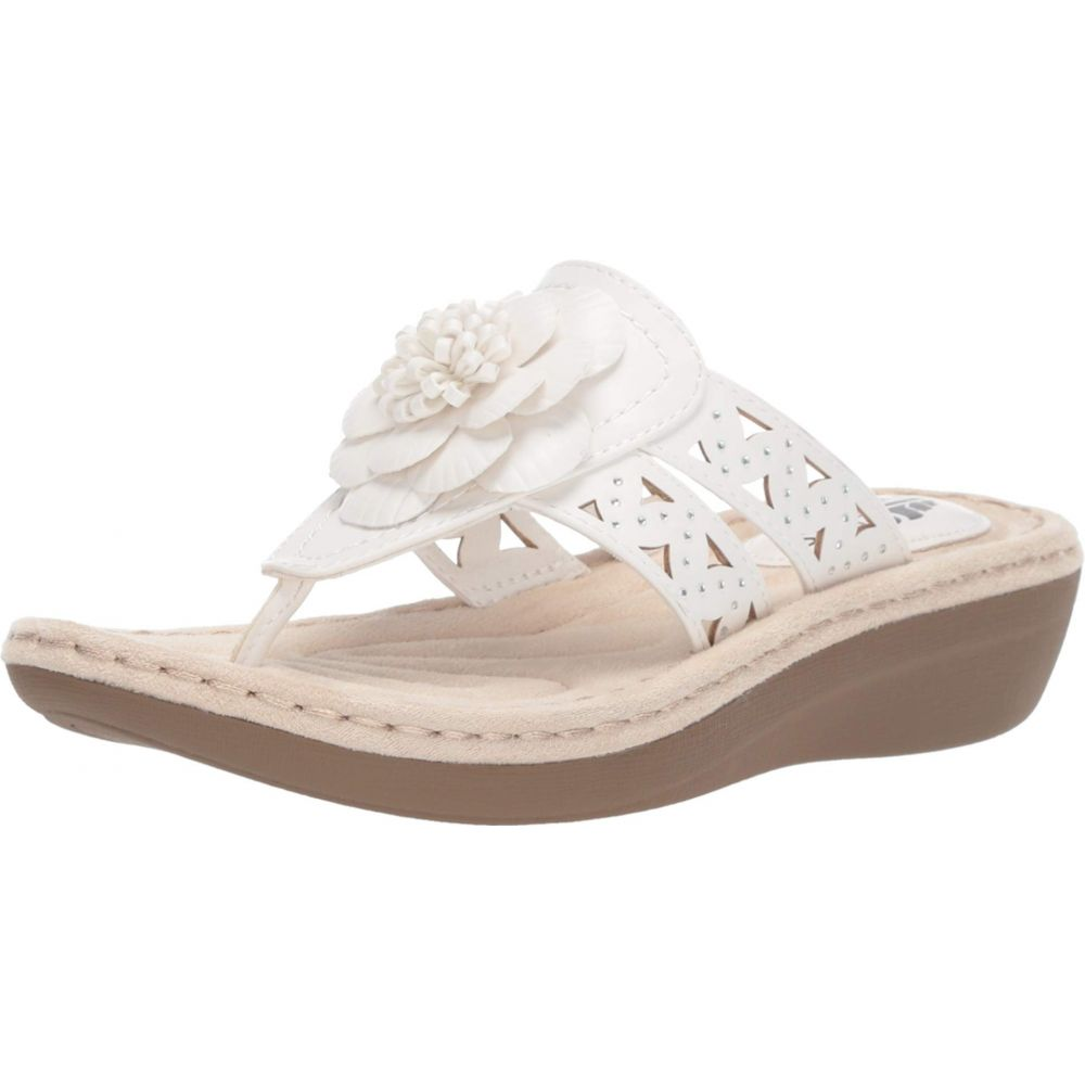 ホワイトマウンテン White Mountain レディース シューズ・靴 サンダル・ミュール【Cynthia】White