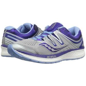 サッカニー Saucony レディース ランニング・ウォーキング シューズ・靴【Hurricane ISO 4】Grey/Blue/Purple
