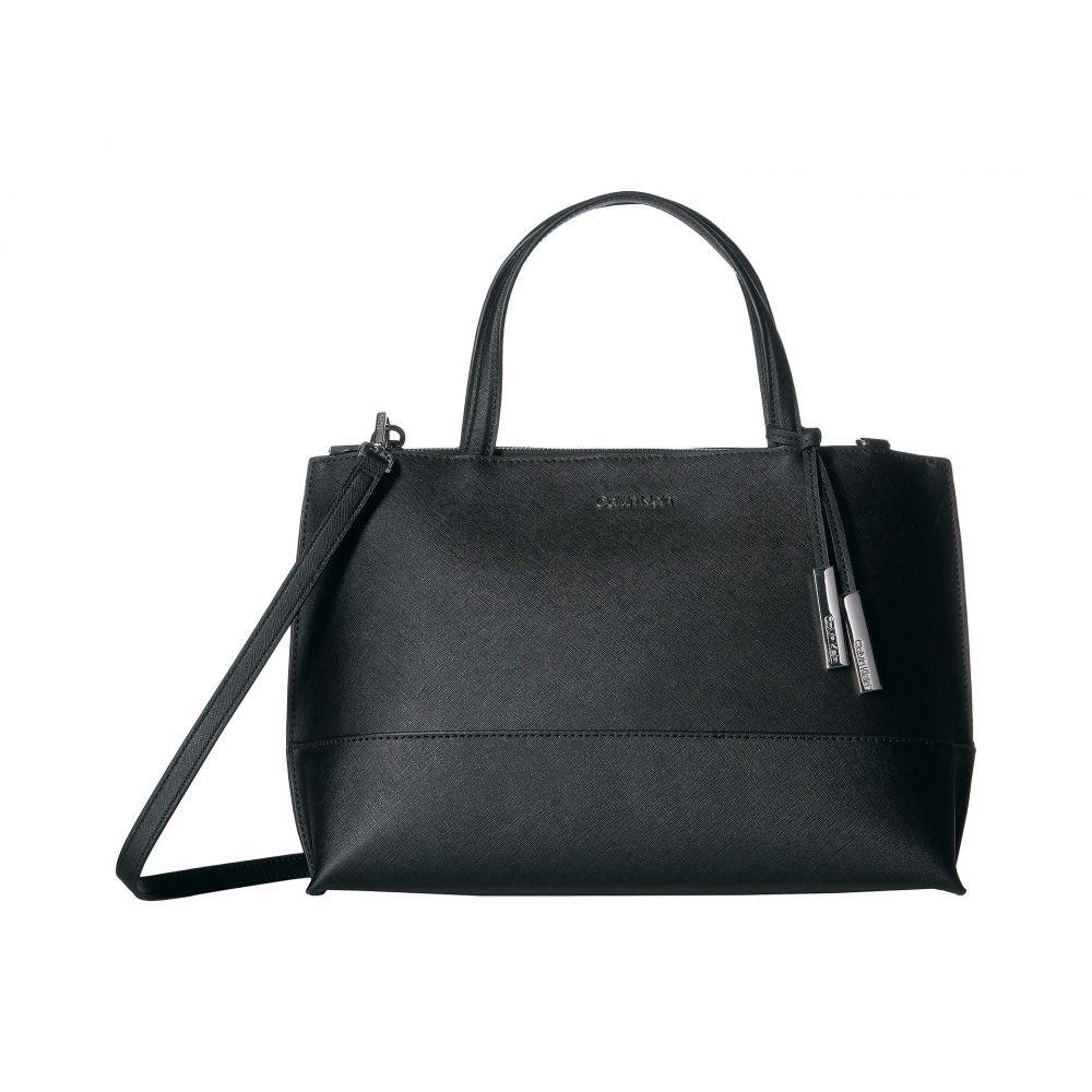カルバンクライン Calvin Klein レディース バッグ ハンドバッグ【Saffiano Leather Satchel】Black/Silver