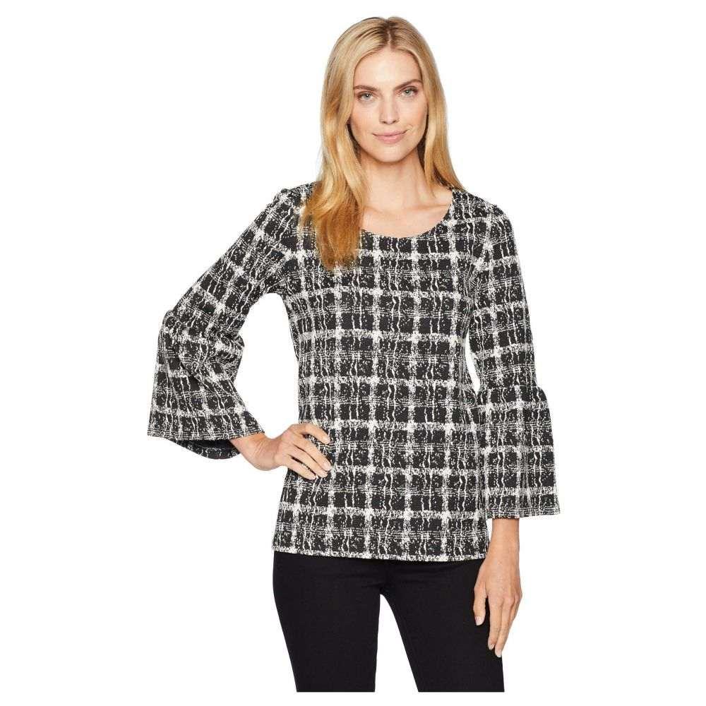 トップス, Tシャツ・カットソー  Calvin Klein TFlare Sleeve Mix Jacquard TopBlack Abstract