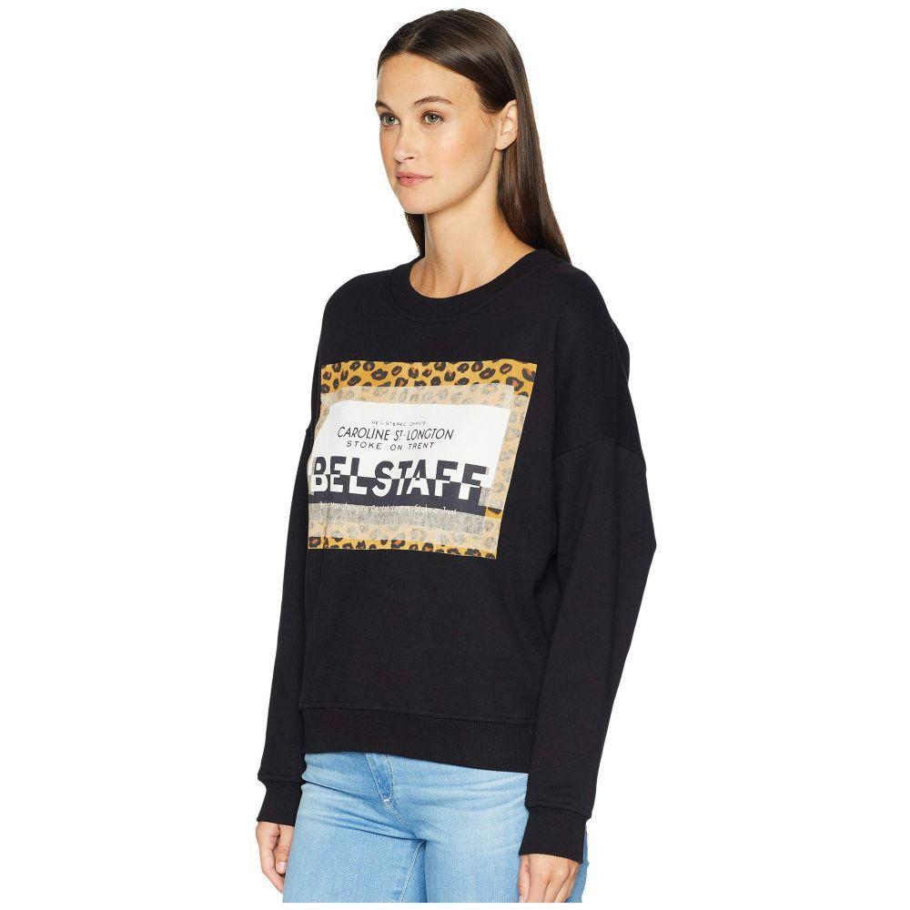 ベルスタッフ BELSTAFF レディース トップス【Alness Leopard Graphic Long Sleeve Crew Sweater】Black
