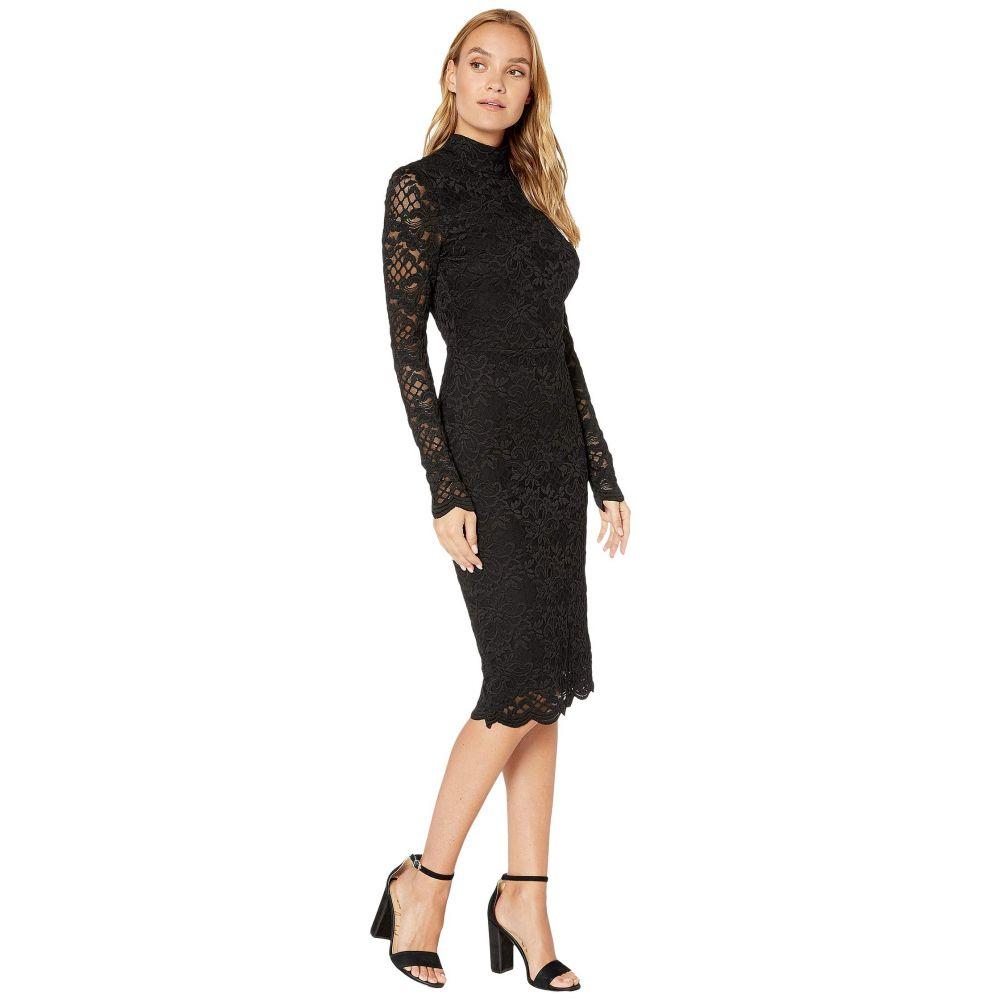 ベベ Bebe レディース ワンピース・ドレス ワンピース【Dani Scallop Lace Dress】Jet Black