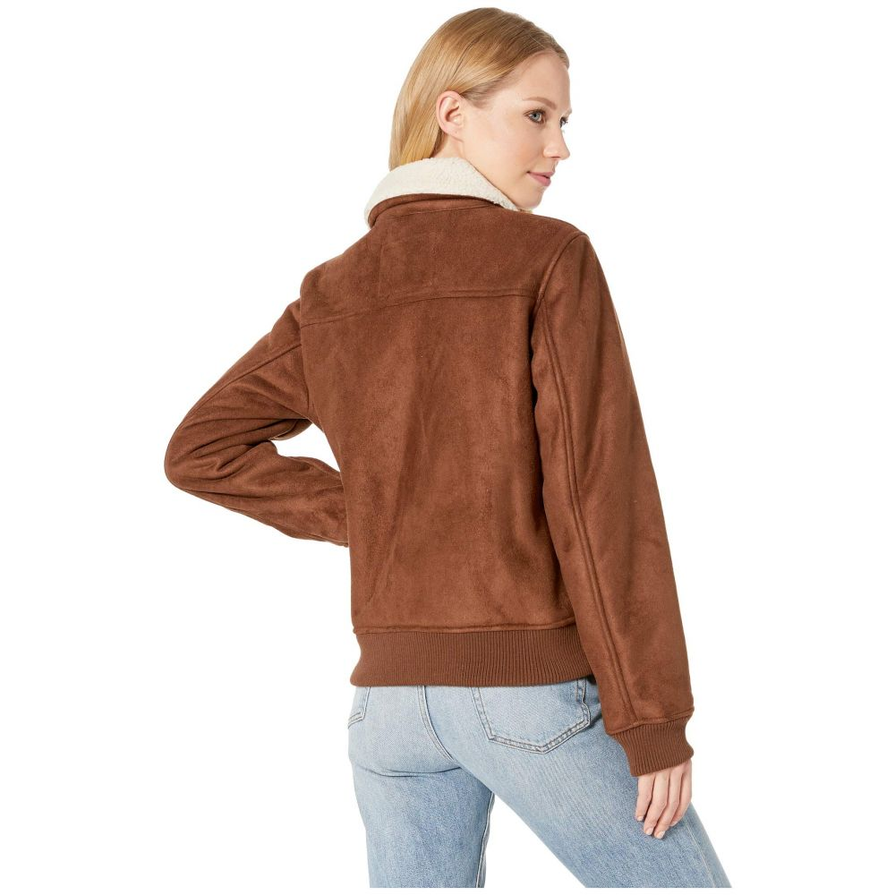 リーバイス Levi's レディース アウター ブルゾン【Faux Suede Two-Pocket Aviator Bomber with Laydown Collar】Cognac
