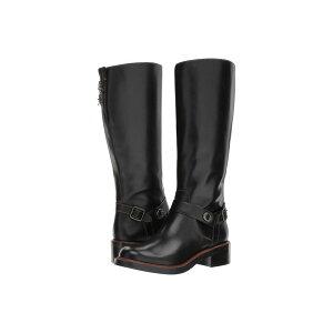Coach COACH أحذية نسائية أحذية / أحذية [سوتون بوت] جلد أسود