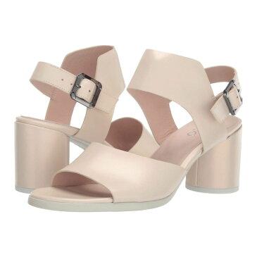 エコー ECCO レディース サンダル・ミュール シューズ・靴【Shape 65 Block Strap Sandal】Vanilla Metallic Calf Leather