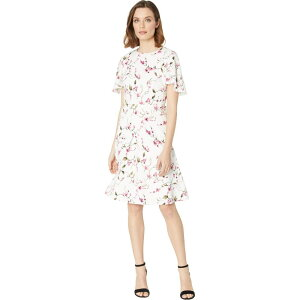 LAUREN Ralph Lauren Ladies One Piece One Piece Dress [Chadela Minerva Floral] Colonial Cream/Pink/Multi