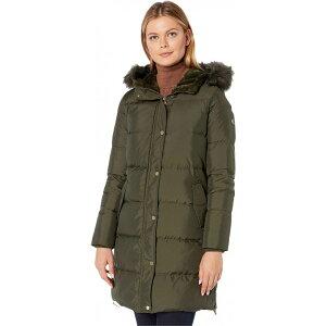 LAUREN Ralph Lauren Ladies Down / Batting Jacket Outerwear [Horizontal Heavy Down w/ Flap Pockets Puffer Coat] Litchfield Loden