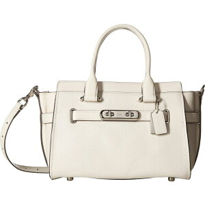 CoachCOACH女士手提包[CoachSwagger Машинаryall 27 In Pebble Leather] SV /粉笔