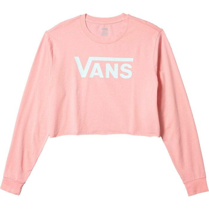 ヴァンズ Vans レディース ベアトップ・チューブトップ・クロップド トップス【Flying V Long Sleeve Crop Tee】Pink Icing