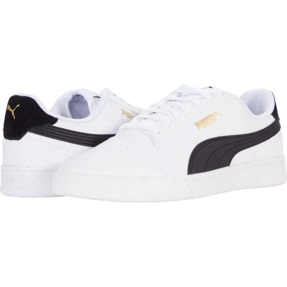 プーマ PUMA メンズ スニーカー シューズ・靴【Shuffle】Puma White/Puma Black/Puma Team Gold画像