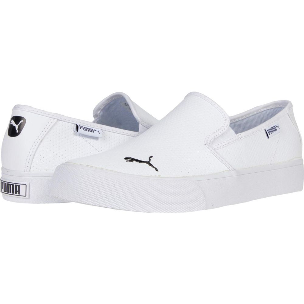 プーマ PUMA レディース スリッポン・フラット シューズ・靴【Bari Slip-On Cat L】Puma White/Puma Black