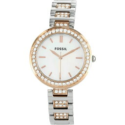 フォッシル Fossil レディース 腕時計 【Karli Three-Hand Two-Tone Stainless Steel Watch】Two Tone Silver/Rose Gold