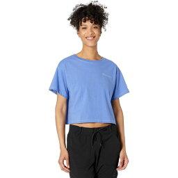 チャンピオン Champion レディース ベアトップ・チューブトップ・クロップド Tシャツ トップス【Cropped Tee - Contrast Stitch】Deep Forte Blue