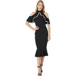 ベベ Bebe レディース ワンピース ワンピース・ドレス【Flutter Off Shoulder Dress】Black/White