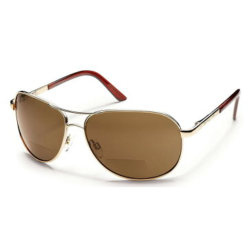 サンクラウド メンズ スポーツサングラス【Aviator Sunglasses】Gold/ Brown Polarized Lens