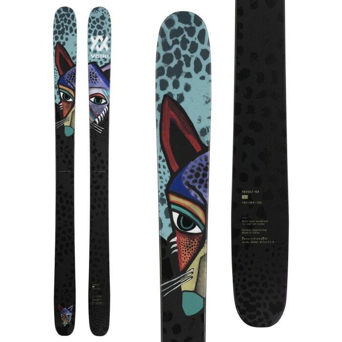 フォルクル Volkl ユニセックス スキー・スノーボード ボード・板【Revolt 104 Skis 2021】