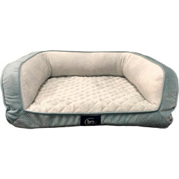 Serta セルタック ペットグッズ 犬用品 ベッド・マット・カバー ベッド【Quilted Orthopedic Bolster Dog Bed w/Removable Cover】Blue