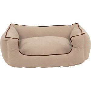 Carolina Pet Company キャロライナペット ペットグッズ 犬用品 ベッド・マット・カバー ベッド【Orthopedic Microfiber Low Profile Kuddle Lounge】Ecru