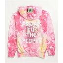 クロスカラーズ CROSS COLOURS レディース パーカー トップス【Cross Colours Power To The People Pink Tie Dye Hoodie】Pink