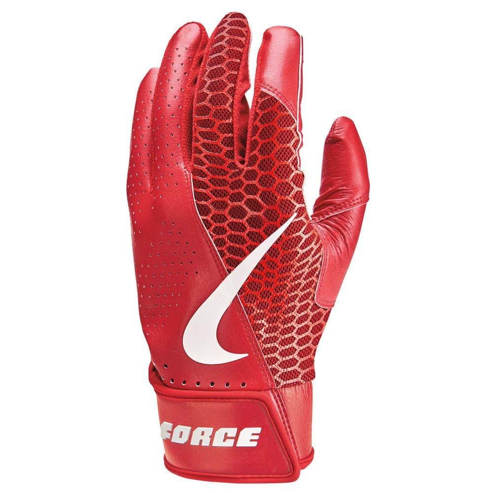 野球・ソフトボール, バッティンググローブ  Nike Force Edge Adult Baseball Batting GloveRed
