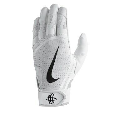 ナイキ Nike ユニセックス 野球 グローブ【Huarache Edge Adult Batting Glove】White/Black