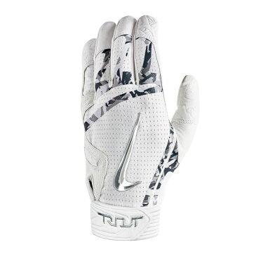 ナイキ Nike ユニセックス 野球 グローブ【Trout Elite Adult Batting Glove】White/Silver