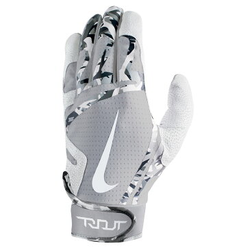 ナイキ Nike ユニセックス 野球 グローブ【Trout Edge Adult Batting Glove】Grey/White