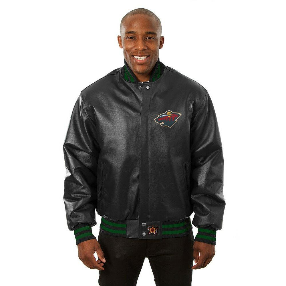 JH デザイン JH Design メンズ アウター レザージャケット【Minnesota Wild Adult Leather Jacket】Black
