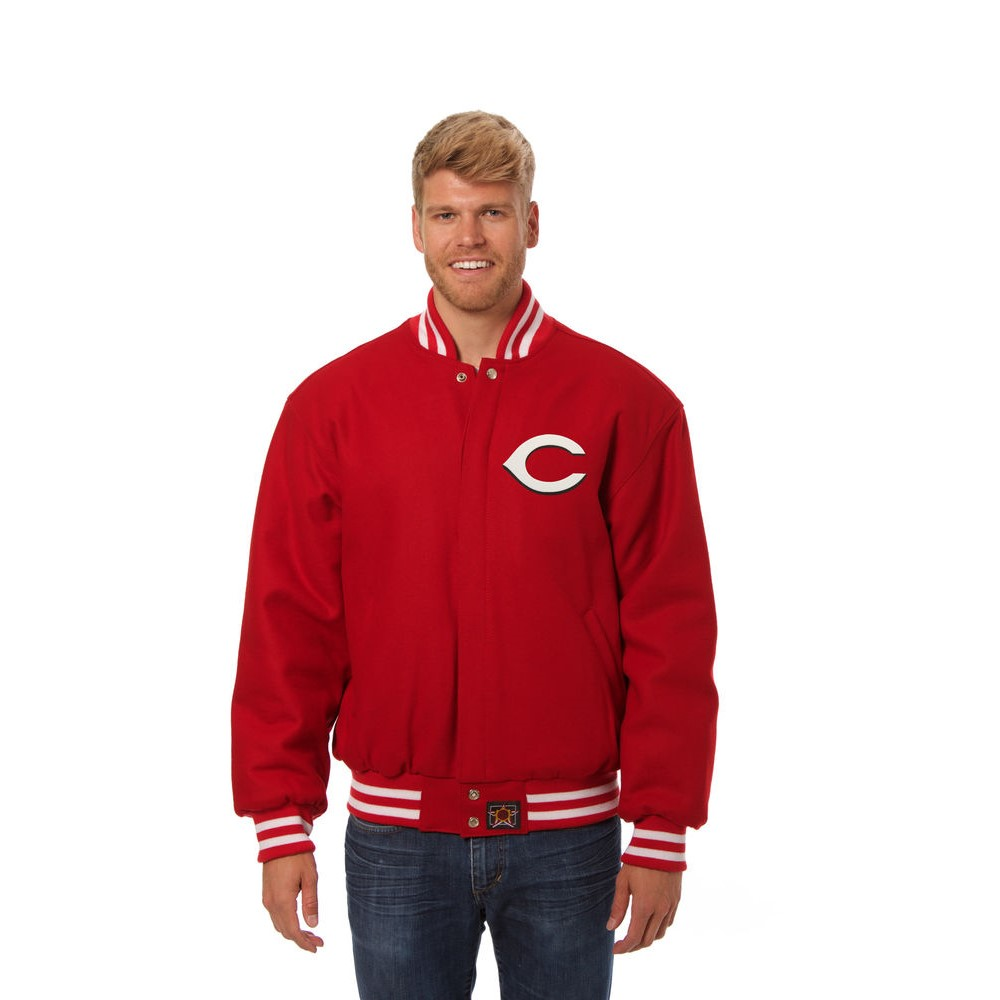 JH デザイン JH Design メンズ アウター ジャケット【Cincinnati Reds Adult Wool Jacket】Red