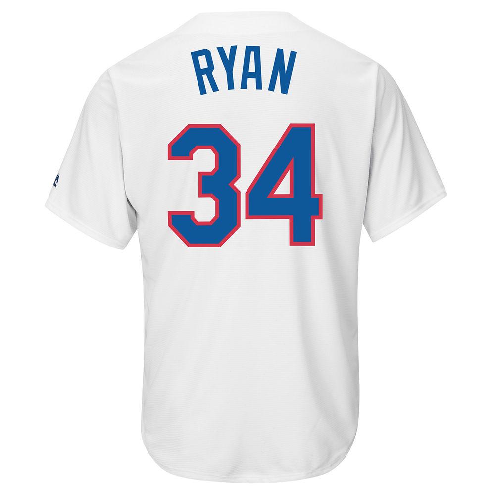 マジェスティック Majestic メンズ トップス【Texas Rangers Adult Nolan Ryan Cooperstown Collection Jersey】