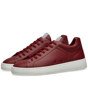 ETQ ETQ. Amsterdam メンズ シューズ・靴 スニーカー【ETQ. Low Top 4 Rubberised Sneaker】Maroon