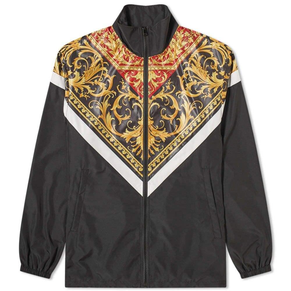 メンズファッション, コート・ジャケット  Versace Baroque WindbreakerBlackGold