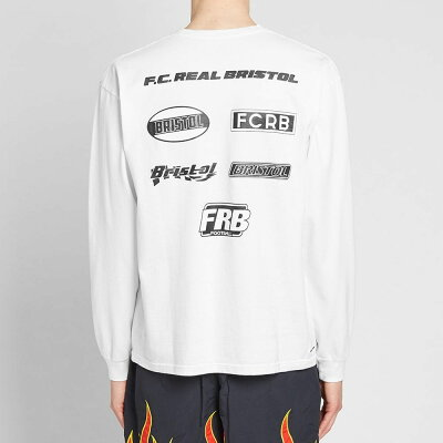 エフシーレアルブリストルF.C.RealBristolメンズトップス長袖Tシャツ【LongSleeveMultiLogoTee】White