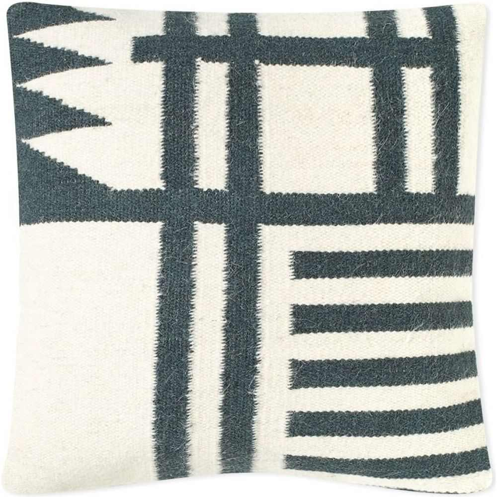 ファームリビング Ferm Living メンズ 雑貨 【Kelim Cushion - Black Lines】Black/White