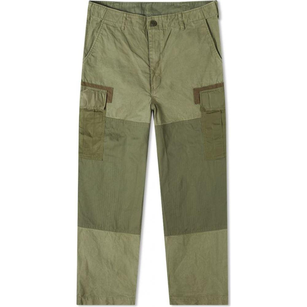 メンズファッション, ズボン・パンツ  Comme des Garcons Homme Garment Dyed Multi Fabric Cargo PantKhaki Mix