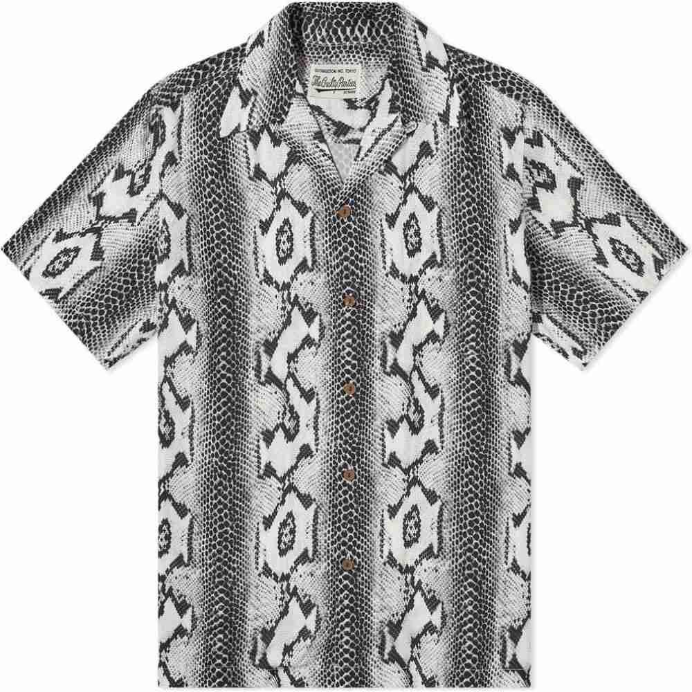 トップス, カジュアルシャツ  Wacko Maria hawaiian python shirtWhite
