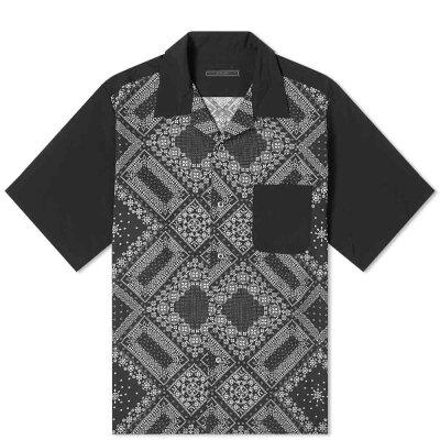 キムタクみたいな黒アロハシャツ