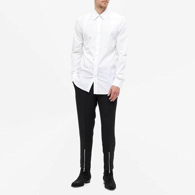 アレキサンダーマックイーンAlexanderMcQueenメンズシャツトップス【harnessshirt】White