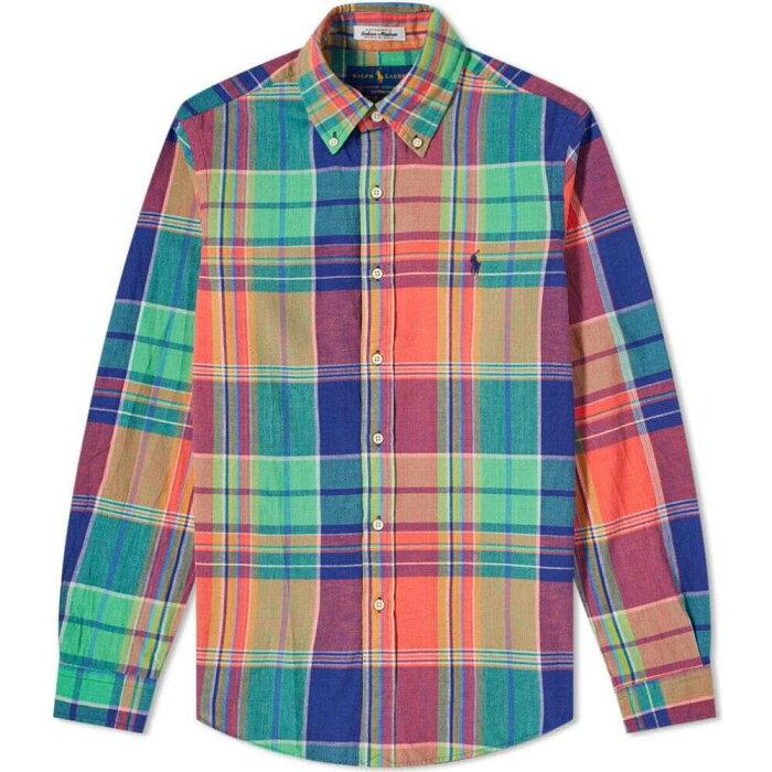 ラルフ ローレン Polo Ralph Lauren メンズ シャツ トップス【button down madras check shirt】Blue/Red Multi