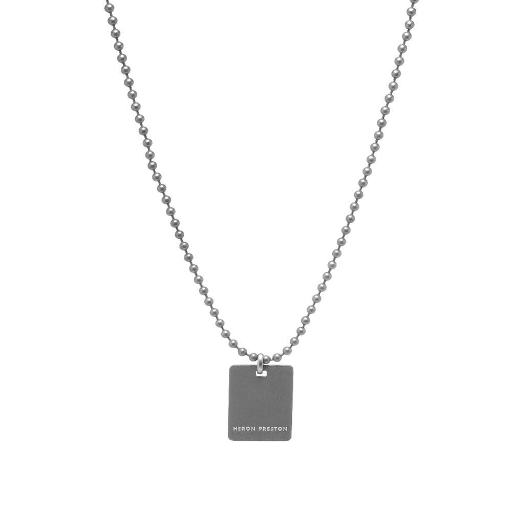 メンズジュエリー・アクセサリー, ネックレス・ペンダント  Heron Preston dog tag necklaceSilver