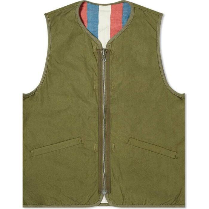 ビズビム Visvim メンズ ベスト・ジレ トップス【Iris Liner Vest】Olive