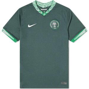 ナイキ Nike メンズ Tシャツ トップス【nigeria away stadium jersey】Seaweed/White