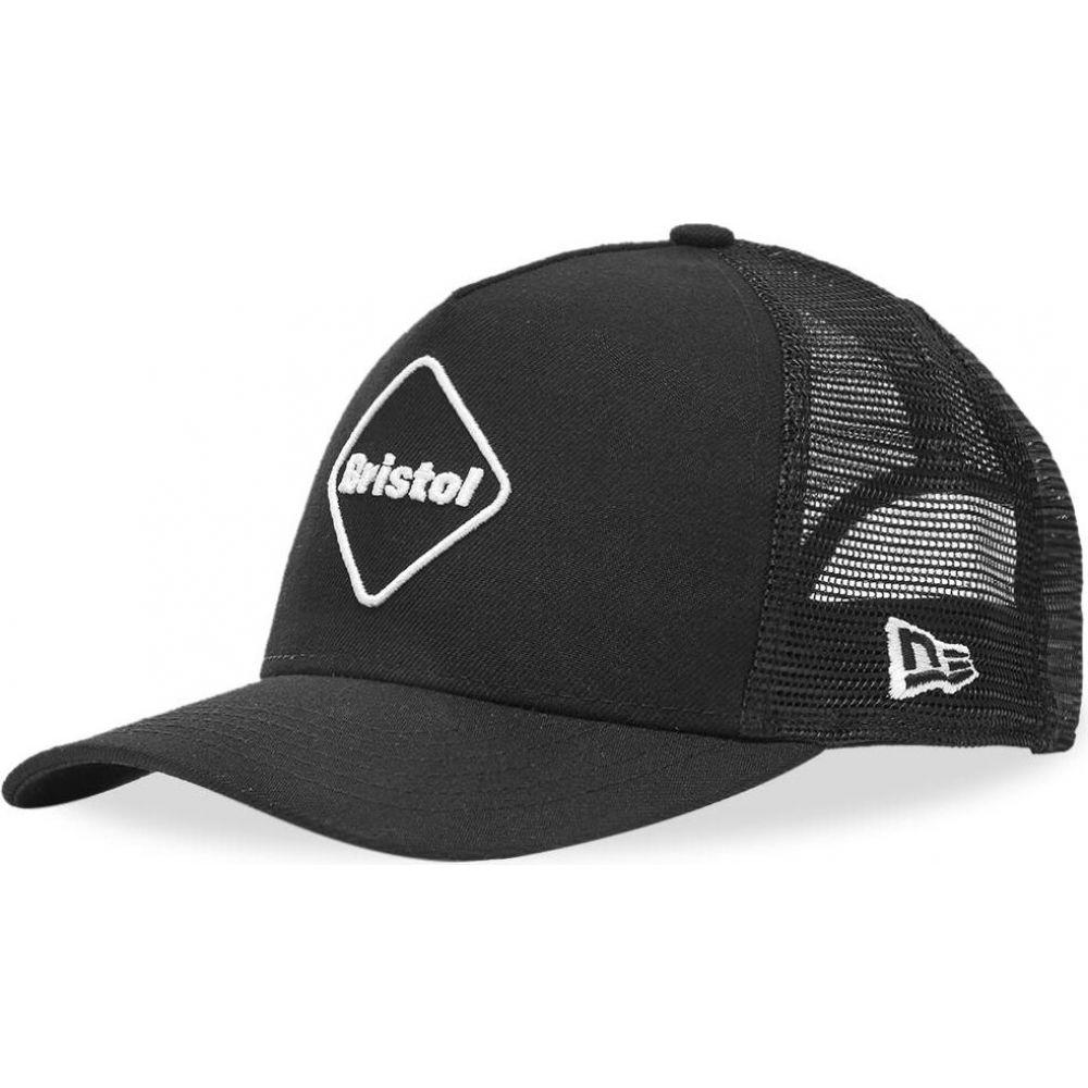 メンズ帽子, キャップ  F.C. Real Bristol new era emblem mesh capBlackWhite