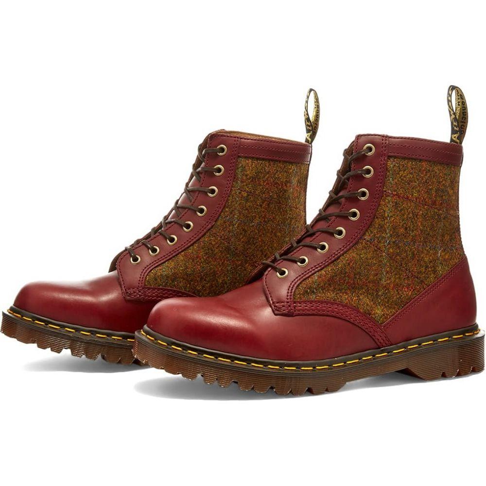 ドクターマーチン Dr Martens メンズ ブーツ シューズ・靴【dr. martens harris tweed 8-eye boot - made in england】Oxblood/Country Check画像
